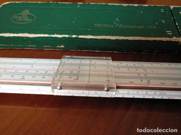 Antigüedades: REGLA DE CALCULO A.W. FABER CASTELL 1/54 DARMSTADT CON SU CAJA CALCULADORA SLIDE RULE RECHENSCHIEBER - Foto 29 - 137393518