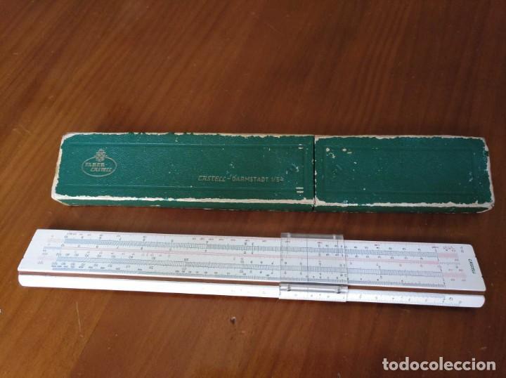 Antigüedades: REGLA DE CALCULO A.W. FABER CASTELL 1/54 DARMSTADT CON SU CAJA CALCULADORA SLIDE RULE RECHENSCHIEBER - Foto 32 - 137393518