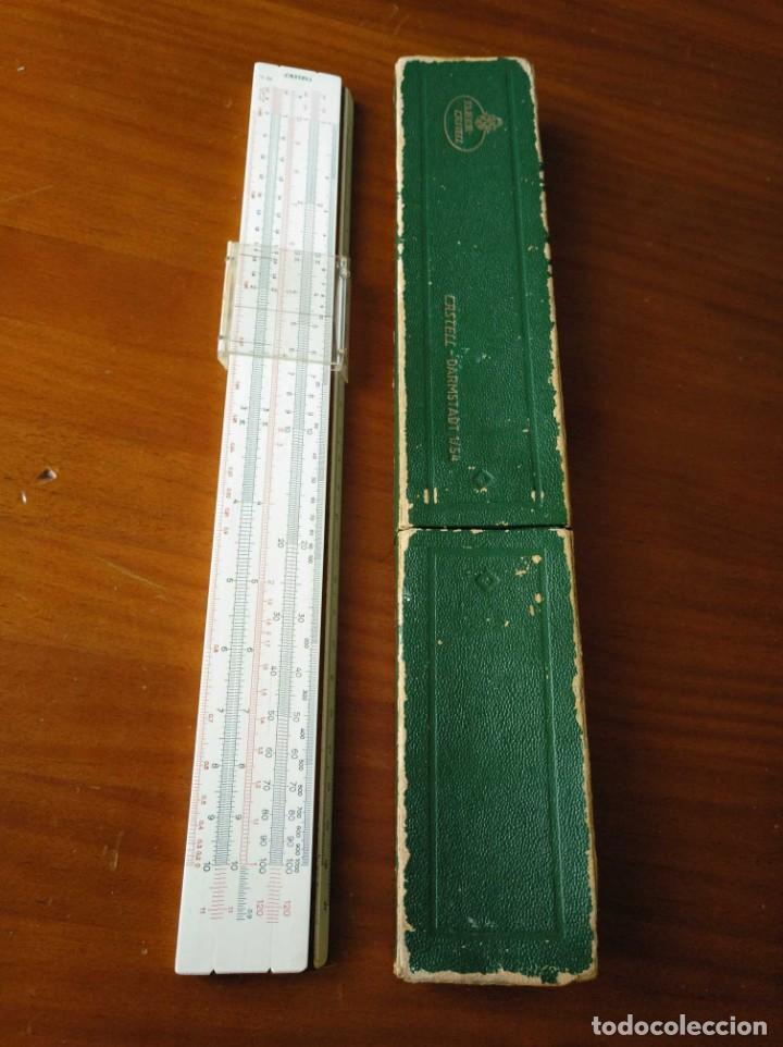 Antigüedades: REGLA DE CALCULO A.W. FABER CASTELL 1/54 DARMSTADT CON SU CAJA CALCULADORA SLIDE RULE RECHENSCHIEBER - Foto 36 - 137393518