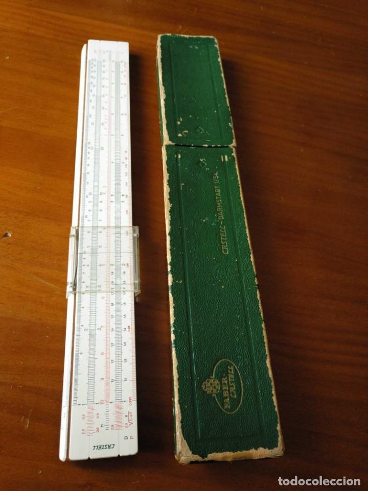 Antigüedades: REGLA DE CALCULO A.W. FABER CASTELL 1/54 DARMSTADT CON SU CAJA CALCULADORA SLIDE RULE RECHENSCHIEBER - Foto 37 - 137393518