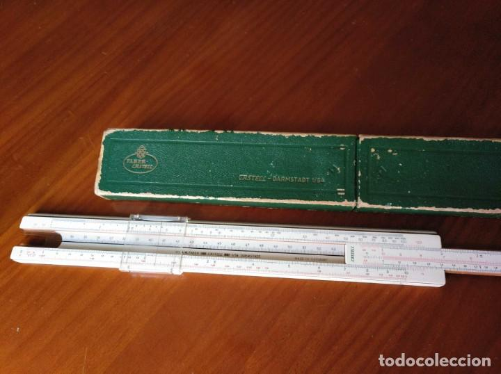 Antigüedades: REGLA DE CALCULO A.W. FABER CASTELL 1/54 DARMSTADT CON SU CAJA CALCULADORA SLIDE RULE RECHENSCHIEBER - Foto 39 - 137393518