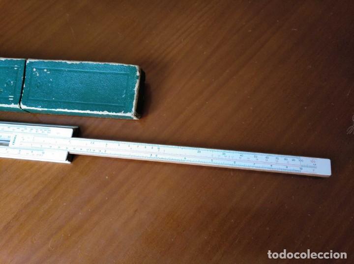 Antigüedades: REGLA DE CALCULO A.W. FABER CASTELL 1/54 DARMSTADT CON SU CAJA CALCULADORA SLIDE RULE RECHENSCHIEBER - Foto 40 - 137393518