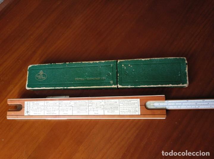 Antigüedades: REGLA DE CALCULO A.W. FABER CASTELL 1/54 DARMSTADT CON SU CAJA CALCULADORA SLIDE RULE RECHENSCHIEBER - Foto 41 - 137393518