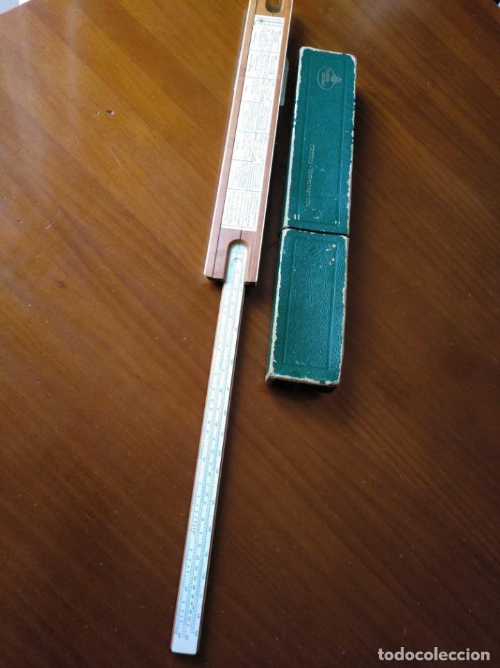 Antigüedades: REGLA DE CALCULO A.W. FABER CASTELL 1/54 DARMSTADT CON SU CAJA CALCULADORA SLIDE RULE RECHENSCHIEBER - Foto 42 - 137393518