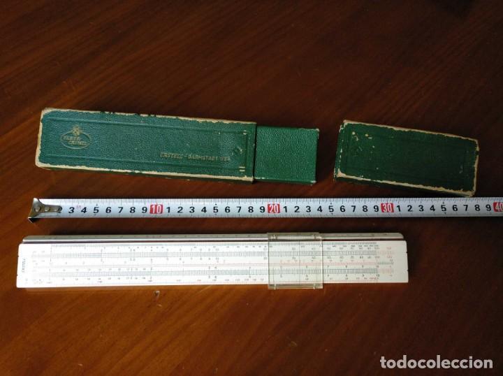 Antigüedades: REGLA DE CALCULO A.W. FABER CASTELL 1/54 DARMSTADT CON SU CAJA CALCULADORA SLIDE RULE RECHENSCHIEBER - Foto 44 - 137393518