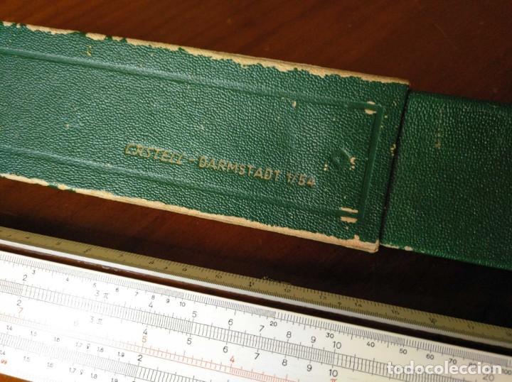 Antigüedades: REGLA DE CALCULO A.W. FABER CASTELL 1/54 DARMSTADT CON SU CAJA CALCULADORA SLIDE RULE RECHENSCHIEBER - Foto 52 - 137393518