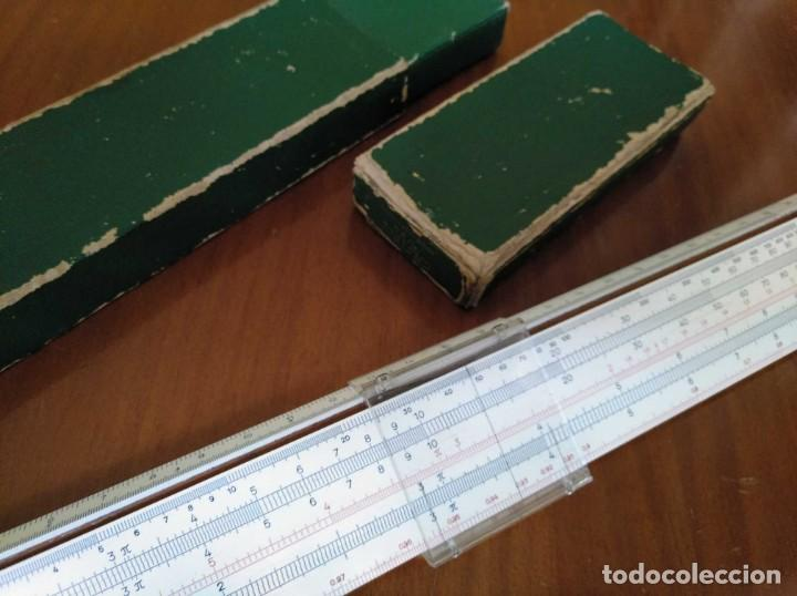 Antigüedades: REGLA DE CALCULO A.W. FABER CASTELL 1/54 DARMSTADT CON SU CAJA CALCULADORA SLIDE RULE RECHENSCHIEBER - Foto 55 - 137393518