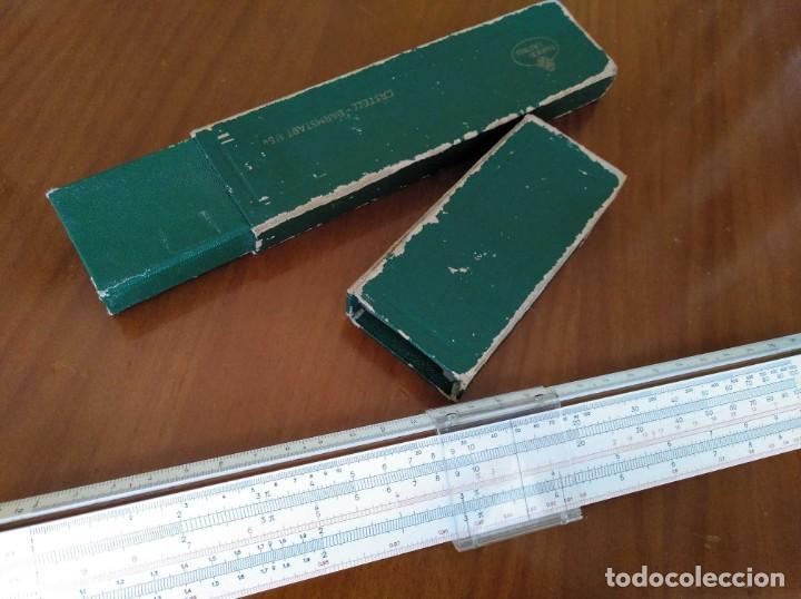 Antigüedades: REGLA DE CALCULO A.W. FABER CASTELL 1/54 DARMSTADT CON SU CAJA CALCULADORA SLIDE RULE RECHENSCHIEBER - Foto 56 - 137393518