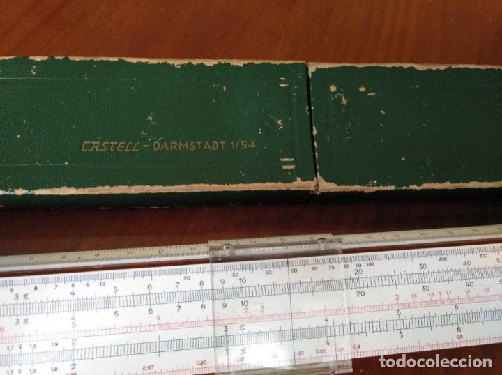 Antigüedades: REGLA DE CALCULO A.W. FABER CASTELL 1/54 DARMSTADT CON SU CAJA CALCULADORA SLIDE RULE RECHENSCHIEBER - Foto 57 - 137393518