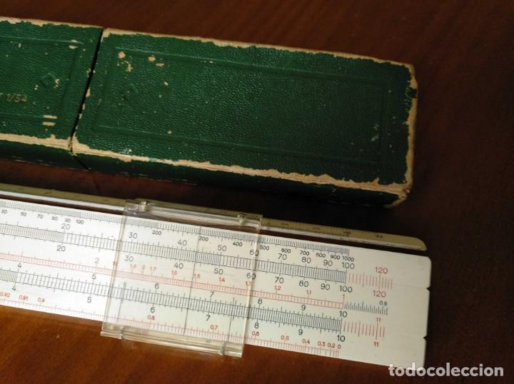 Antigüedades: REGLA DE CALCULO A.W. FABER CASTELL 1/54 DARMSTADT CON SU CAJA CALCULADORA SLIDE RULE RECHENSCHIEBER - Foto 59 - 137393518