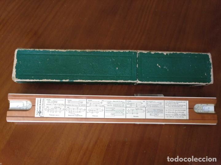 Antigüedades: REGLA DE CALCULO A.W. FABER CASTELL 1/54 DARMSTADT CON SU CAJA CALCULADORA SLIDE RULE RECHENSCHIEBER - Foto 60 - 137393518