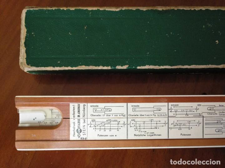 Antigüedades: REGLA DE CALCULO A.W. FABER CASTELL 1/54 DARMSTADT CON SU CAJA CALCULADORA SLIDE RULE RECHENSCHIEBER - Foto 61 - 137393518