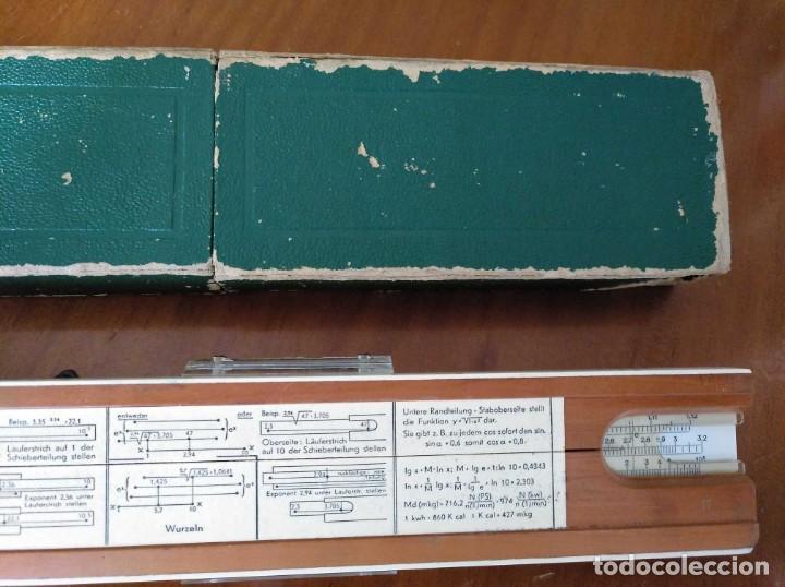 Antigüedades: REGLA DE CALCULO A.W. FABER CASTELL 1/54 DARMSTADT CON SU CAJA CALCULADORA SLIDE RULE RECHENSCHIEBER - Foto 62 - 137393518