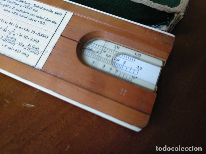 Antigüedades: REGLA DE CALCULO A.W. FABER CASTELL 1/54 DARMSTADT CON SU CAJA CALCULADORA SLIDE RULE RECHENSCHIEBER - Foto 64 - 137393518