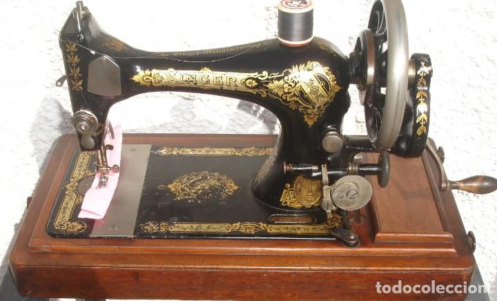 PRECIOSA Y ANTIGUA MAQUINA DE COSER, SINGER, MODELO 28K, AÑO MARZO 1903, (Antigüedades - Técnicas - Máquinas de Coser Antiguas - Singer)
