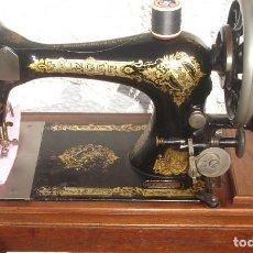Antigüedades: PRECIOSA Y ANTIGUA MAQUINA DE COSER, SINGER, MODELO 28K, AÑO MARZO 1903,. Lote 137523870