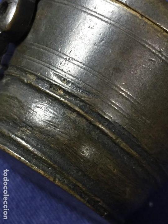 Antigüedades: ANTIGUO PONDERAL VASOS ANIDADOS BRONCE PATINA S XVIII NUMERACION 4,5X5,5X6,5CMS - Foto 18 - 137549234