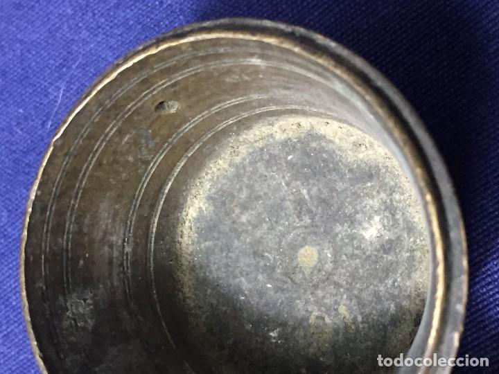 Antigüedades: ANTIGUO PONDERAL VASOS ANIDADOS BRONCE PATINA S XVIII NUMERACION 4,5X5,5X6,5CMS - Foto 20 - 137549234