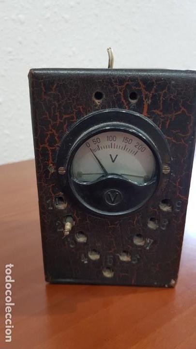 VOLTÍMETRO ANTIGUO (Antigüedades - Técnicas - Herramientas Profesionales - Electricidad)