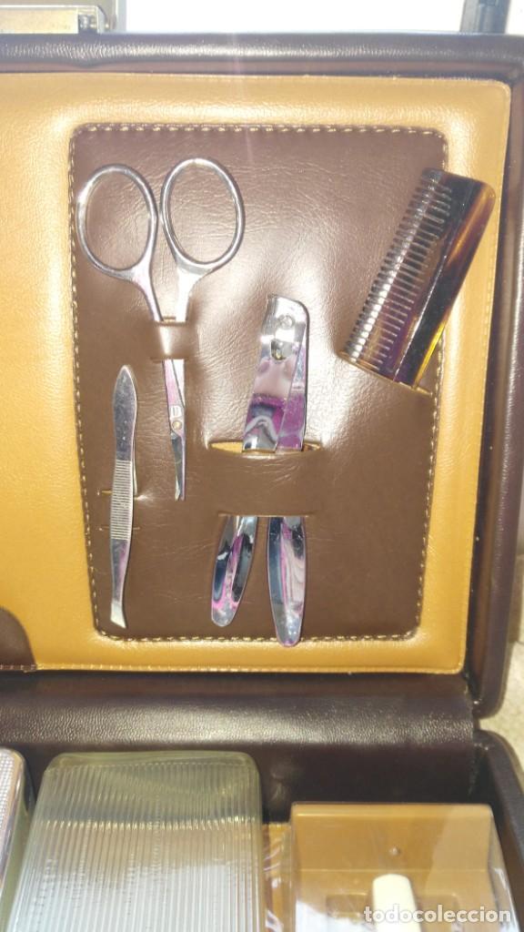 Antigüedades: Estuche de viaje barbería - Foto 2 - 137643934