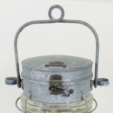 Antigüedades: FARO PARA BARCO. DAVEY AND COMPANY. ANCHOR. LONDON. METAL Y CRISTAL. CIRCA 1900.. Lote 137726458