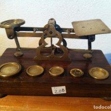 Antigüedades: PRECIOSA BALANZA POSTAL SANSON MORDAN &Cº 17X10CMAÑO 1885 (BP- M 02). Lote 137743970