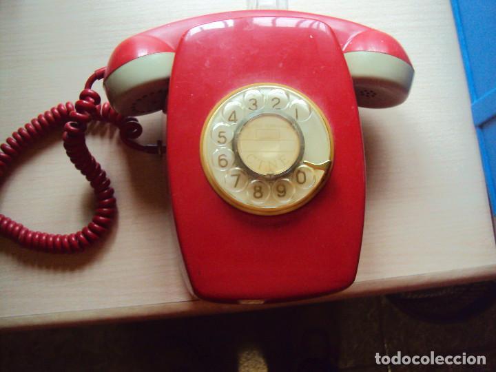 IMPRESIONANTE TELEFONO ANTIGUO ORIGINAL 2 (Antigüedades - Técnicas - Teléfonos Antiguos)