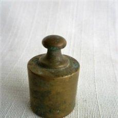 Antigüedades: PESAS DE BALANZA DE 50 GR. DE BRONCE. Lote 146692638