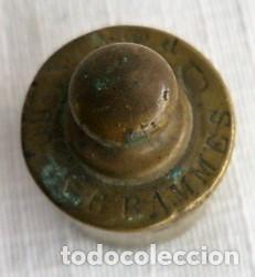 Antigüedades: PESAS DE BALANZA DE 50 Gr. DE BRONCE - Foto 3 - 146692638