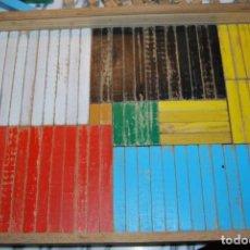 Antigüedades: REGLETAS DE CUISENAIRE - MADERA - MATEMÁTICAS - ARQUITECTURA - 290 PIEZAS - AÑOS 60. Lote 137988390