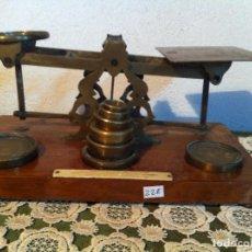 Antigüedades: UNA JOYA DE MUSEO BALANZA POSTAL MORDAN &Cº CON SUS PESAS ORIGINALES (BP M 10). Lote 138005610