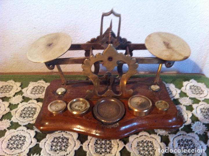 Antigüedades: ESPECIAL BALANZA POSTAL J &E RATCLIFF CON FIEL ASCENDENTE DE 18x10cm (BP E J&E33) - Foto 2 - 138030274