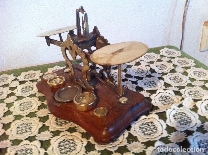 Antigüedades: ESPECIAL BALANZA POSTAL J &E RATCLIFF CON FIEL ASCENDENTE DE 18x10cm (BP E J&E33) - Foto 3 - 138030274