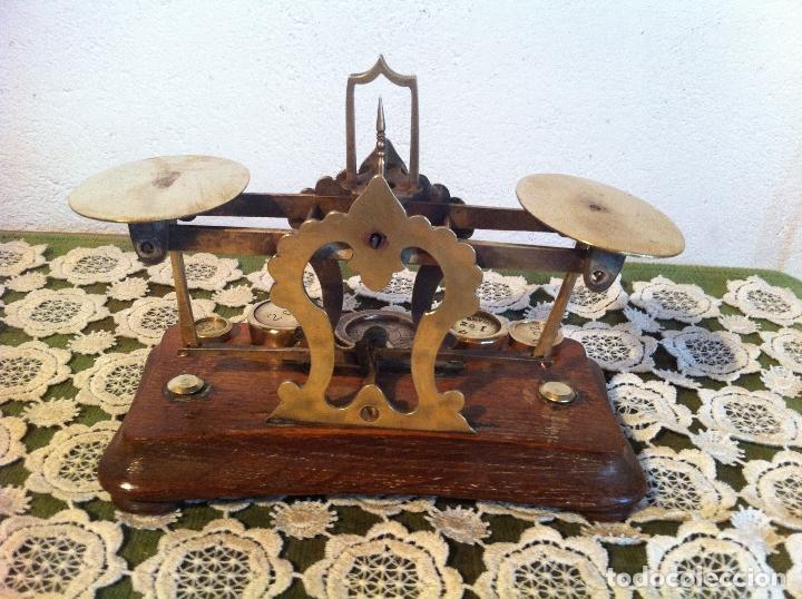 Antigüedades: ESPECIAL BALANZA POSTAL J &E RATCLIFF CON FIEL ASCENDENTE DE 18x10cm (BP E J&E33) - Foto 4 - 138030274