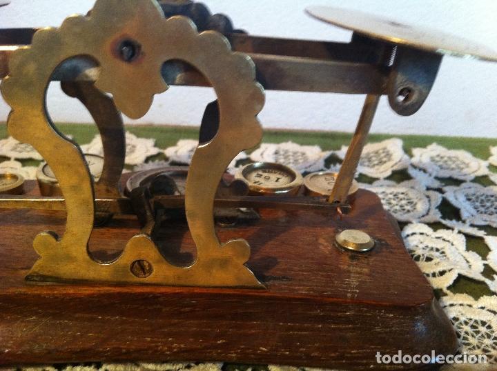 Antigüedades: ESPECIAL BALANZA POSTAL J &E RATCLIFF CON FIEL ASCENDENTE DE 18x10cm (BP E J&E33) - Foto 5 - 138030274