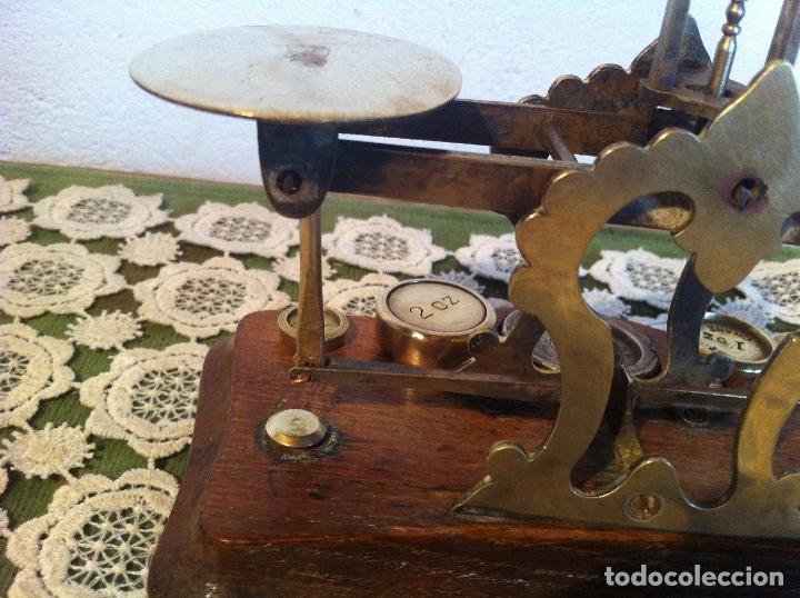 Antigüedades: ESPECIAL BALANZA POSTAL J &E RATCLIFF CON FIEL ASCENDENTE DE 18x10cm (BP E J&E33) - Foto 6 - 138030274