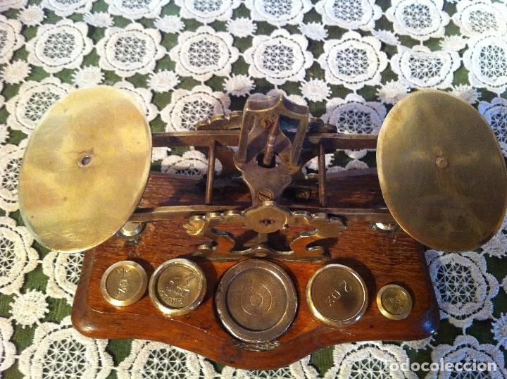 Antigüedades: ESPECIAL BALANZA POSTAL J &E RATCLIFF CON FIEL ASCENDENTE DE 18x10cm (BP E J&E33) - Foto 7 - 138030274