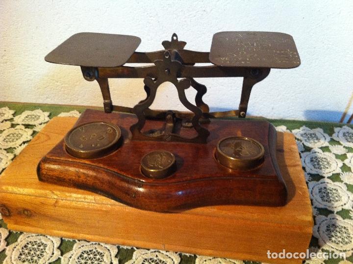 Antigüedades: OTRA JOYA DE BALANZA VICTORIANA MARCA AVERY DEL 1844 CON SUS PESAS (BP AVERY 2) - Foto 2 - 138073990