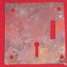 Antigüedades: ANTIGUA CERRADURA DE HIERRO SIGLO XIX. Lote 138160370