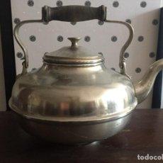 Antigüedades: CAFETERA DE BAR. MIDE 30 CM. DE LARGO Y 18 DE ALTO SIN CONTAR ASA. Lote 138173850
