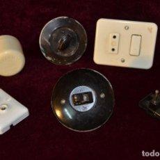 Antigüedades: LOTE ELECTRICIDAD 6 UNIDADES. Lote 138330146