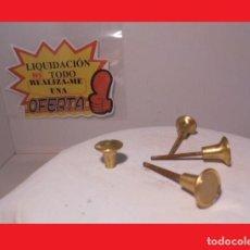 Antigüedades: LOTE DE CUATRO ANTIGUOS POMOS TIRADORES EN BRONCE O LATÓN PRECIOSOS (IDEALES PARA RESTAURACIÓN). Lote 138616518