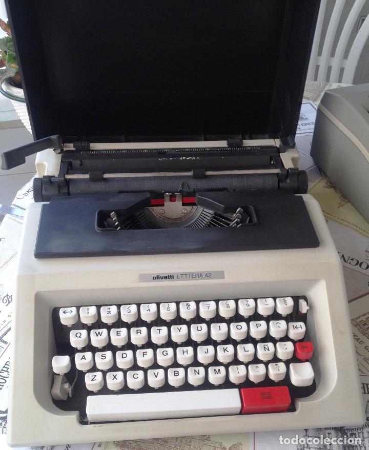 MAQUINA DE ESCRIBIR PORTATIL- OLIVETTI LETTERA 42- MUY BUEN ESTADO (Antigüedades - Técnicas - Máquinas de Escribir Antiguas - Olivetti)