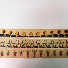 Antigüedades: 3 PELICULAS ANTIGUAS DE ZOOTROPO, MIDEN 55CM.X5,5CM.. Lote 138667518
