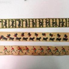 Antigüedades: 3 PELICULAS ANTIGUAS DE ZOOTROPO, MIDEN 55CM.X5,5CM.. Lote 138668122