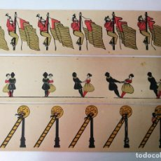 Antigüedades: 3 PELICULAS ANTIGUAS DE ZOOTROPO,MIDEN 97CM.X10CM.. Lote 138668934