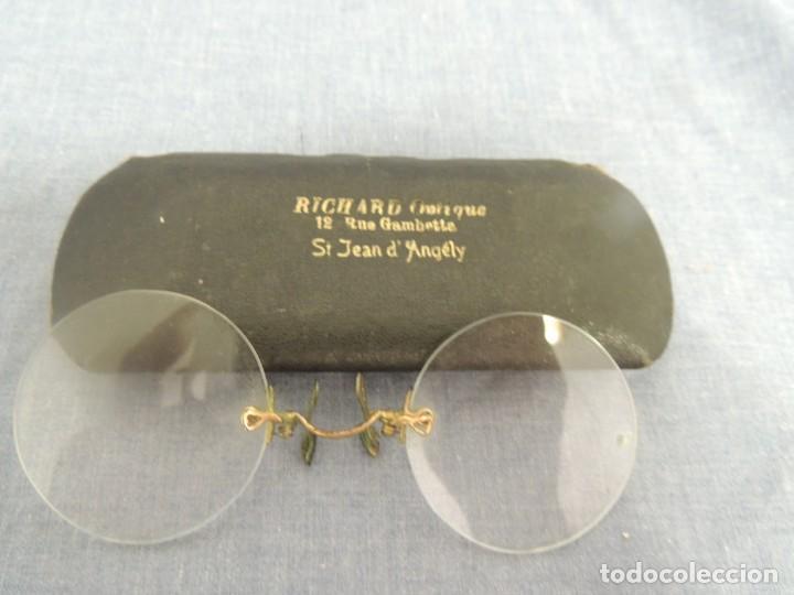 BINOCULARES CON FUNDA (Antigüedades - Técnicas - Instrumentos Ópticos - Binoculares Antiguos)