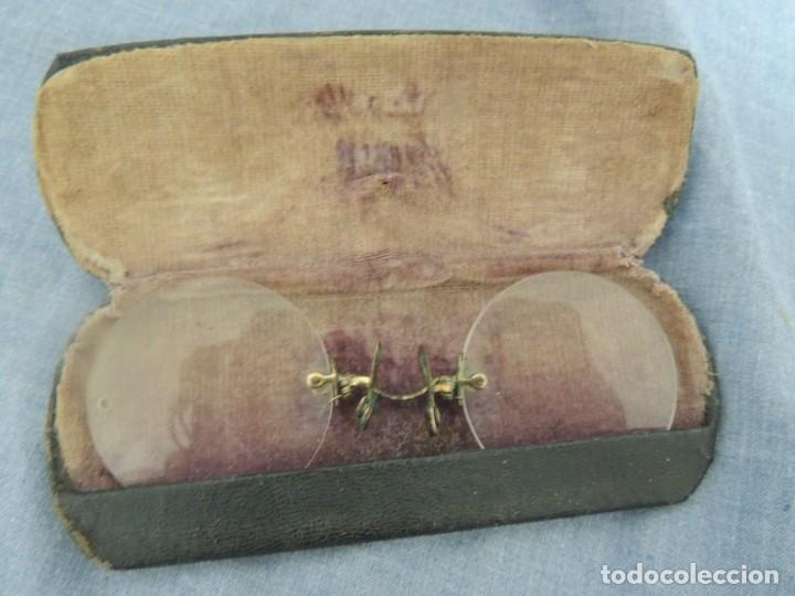 Antigüedades: binoculares con funda - Foto 2 - 138690674