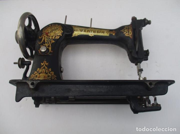 Antigüedades: ANTIGUA MAQUINA DE COSER WERTHEIM RAPIDA - Foto 6 - 138741014