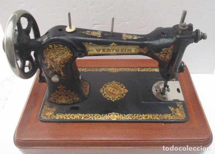 Antigüedades: ANTIGUA MAQUINA DE COSER WERTHEIM RAPIDA - Foto 9 - 138741014